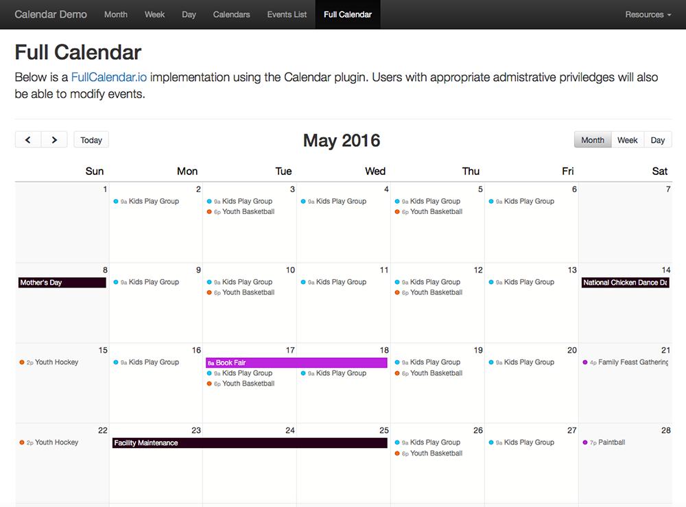 Craft Calendar 1 x - FullCalendar JS Library | Solspace
